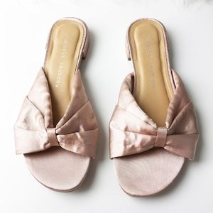 Chinese Laundry Pink Satin Slides Size 6.5